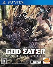 Used PlayStation PS Vita GOD EATER RESURRECTION Free Shipping