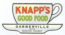 Vintage Colorful Knapp's Restaurant, Garberville, California Coffee Cup Folding