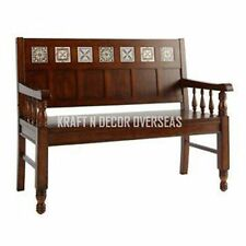KraftNDecor Contemporary Wooden Bench/Sofa in Brown Colour