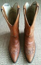 Durango Brown Leather Cap Toe Cowboy Boots Style DB532 Size 9EE