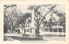 c.1910 Homes Soldier's Monument Greenport LI NY post card