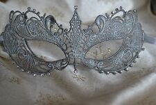 SILVER LACE DIAMANTE MASQUERADE MASK FIFTY SHADES DARKER NEW YEAR'S VALENTINE'S