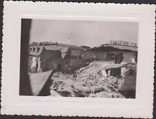 PHOTO ANCIENNE GUERRE LE CREUSOT/BOMBARDE PAR LA RAF 1942/DESTRUCTION MASSIVE