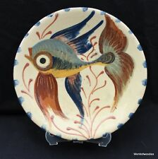 PUIGDEMONT ART POTTERY  FISH PLATE / WALL HANGING