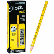 Sharpie Pro Yellow Peel Off China Markers, Grease Pencil, 02083, 170T, Box of 12