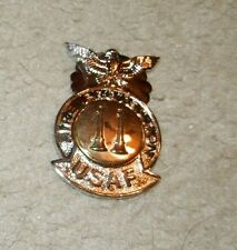 USAF STAFF ID PIN,  FIRE & EMERGENCY SERVICES,CAPTAIN, 2.5 INCHES, clutch BACK