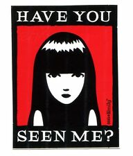 EMILY THE STRANGE have you seen me STICKER -goth comic **FREE SHIPPING** d 13339