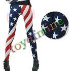 New Sexy Slim Fashion Elasticity USA American Flag Print Leggings Pants