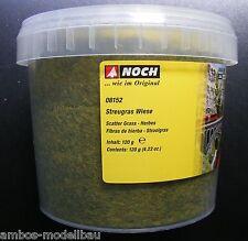 (100g=7,16€) NOCH 08152 Streugras Wiese, 2,5 mm lang, 120g Dose, Neu