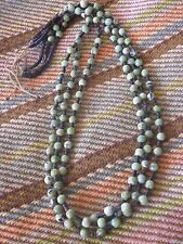 SERPENTINE (YELLOW TURQUOISE) DARK CHOCOLATE HEISHE TRADITIONAL NECKLACE D CHAMA
