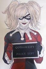 Harley Quinn Batman 28x16 Oil Painting,NOT a print, framing avail Dark Knight