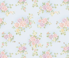 Floral Pattern Contact Paper Self Adhesive Wallpaper Blue Wall Stickers Roll