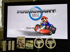 Nintendo Wii Console Bundle+Mario Kart+Wheels+ Wii Sports +WARRANTY- SHIPS TODAY