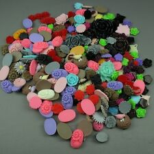 Assorted Flatback Resin Cabochons Embellishment Decoden Rose Floral over 250pcs