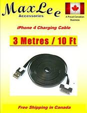 3M 10FT Noodle USB Sync Data & Charging Cable for iPhone 4/4S 3/3GS iPod Touch 4