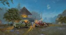 Dave Barnhouse S/N Old Truck print-FORD LENDS A HAND