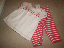Mini Boden Baby Girls Outfit leggins and  Top 0 - 3 months BNWOT