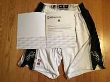 Matt Bonner 2013 all-star weekend game worn SA Spurs white shorts, MeiGray LOA