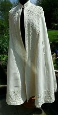Vintage Heavily Embroidered and Frogged Cream Cape Great for Wedding