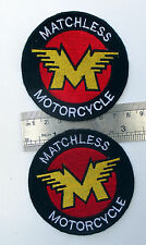 2X VINTAGE AJS MATCHLESS PARTS MOTORCYCLE BIKE FOR SALE PATCH AMPS jackets