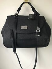 NWT GUESS G Logo Bradbury Satchel Bag Black SE638019