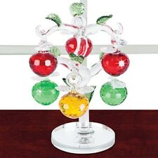 7 PC CRYSTAL APPLES TREE FIGURINE 6 REMOVABLE APPLES New N Box Deluxe FRUIT SALE