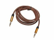 AUX Kabel 2x 3,5 mm Klinkekabel Klinke Stecker STEREO Audio Vergoldet Gold 1M