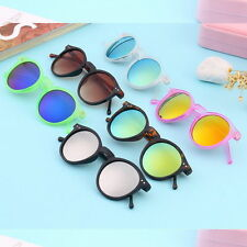 Unisex Women Men Mirror lens Round Glasses Steampunk Sunglasses Vintage Retro AO