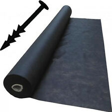 2m x 40m Weed Control Landscape Fabric Membrane Mulch Ground Cover + 40 Pegs