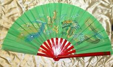 Tai Chi Eventail-éventail-Tai Ji Fan-abanico-Angebot-ventaglio-vert dragon