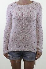 NEXT pink & cream speckle knit sparkly warm winter jumper size 8 euro 36