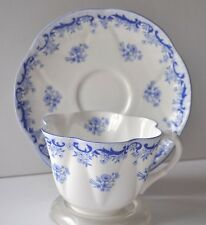 Shelley Tea Cup and Saucer Dainty Heavenly Blue 14075 Dainty