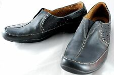 Clarks Artisan - Womens Size 12M - Black Leather Slip On Shoes