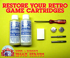 VIDEO GAME CARTRIDGE CLEANING KIT- POLISH- 3.8 & 4.5MM BIT- TRI-WING- BATTERIES