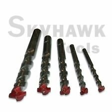 "5pc  Masonry Drill Bit Set 3/16"" to 1/2"" Carbide Tip-Concrete, Brick, &Tile"