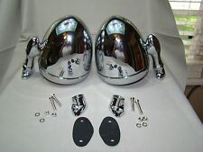 vintage style chrome teardrop dummy lights spot lights spotlights rat rod custom