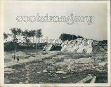 1944 WWII Camouflaged Bomb Launch Site De Lassy France Press Photo