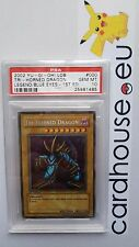 PSA 10 GEM MINT Tri-Horned Dragon LOB 1st Edition Dark Symbol ERROR USA