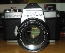 Asahi Pentax SPOTMATIC F SPF 35mm SLR Film Camera untested