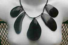 Brand NEW Super Nice Dramatic w/Tag Chico's Large Zelda Black Horn Bib Necklace