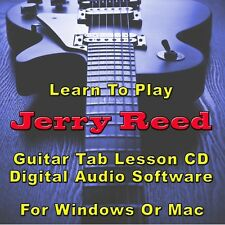 JERRY REED Guitar Tab Lesson CD Software - 16 Songs