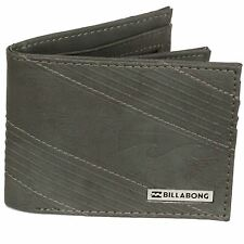 Billabong Bi-fold Wallet  with CC, Note and Coin Pockets ~ Junction charcoal
