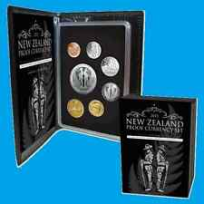 NEW ZEALAND 2015 ANZAC SILVER PROOF CURRENCY COIN SET!!!! SOLD OUT BY THE MINT!!