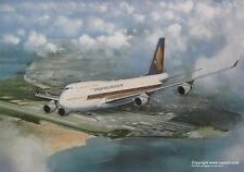 SINGAPORE AIRLINES BOEING 747 AIRLINER ART PRINT