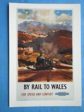 POSTCARD BY RAIL TO WALES - FOR SPEED & COMFORT