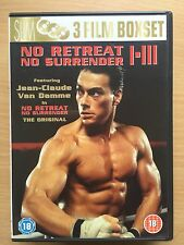 Jean Claude Van Damme NO RETREAT NO SURRENDER 1 2 3 Martial Arts Trilogy UK DVD