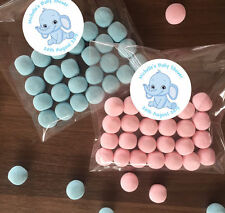 12 Personalised Make Your Own Favour Kits Baby Shower Party blue elephant