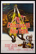 COLOSSUS OF NEW YORK GIANT ROBOT SCIENCE FICTION 1958 1-SHEET