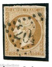 France Napoléon N°13B oblitéré cachet gros chiffres