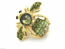 New Bumble Bee Crystal Pin Brooch Women New